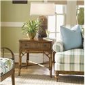 Tommy Bahama Home Beach House One-Drawer Heron Lamp Table with Bamboo & Rattan Accents - Shown with Golden Isle Sofa and Sunset Cove Chair