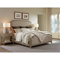 Tommy Bahama Home Cypress Point Stone Harbour Queen-Size Headboard with Fabric Upholstery and Nailhead Border - Rails and Footboard Sold Separately