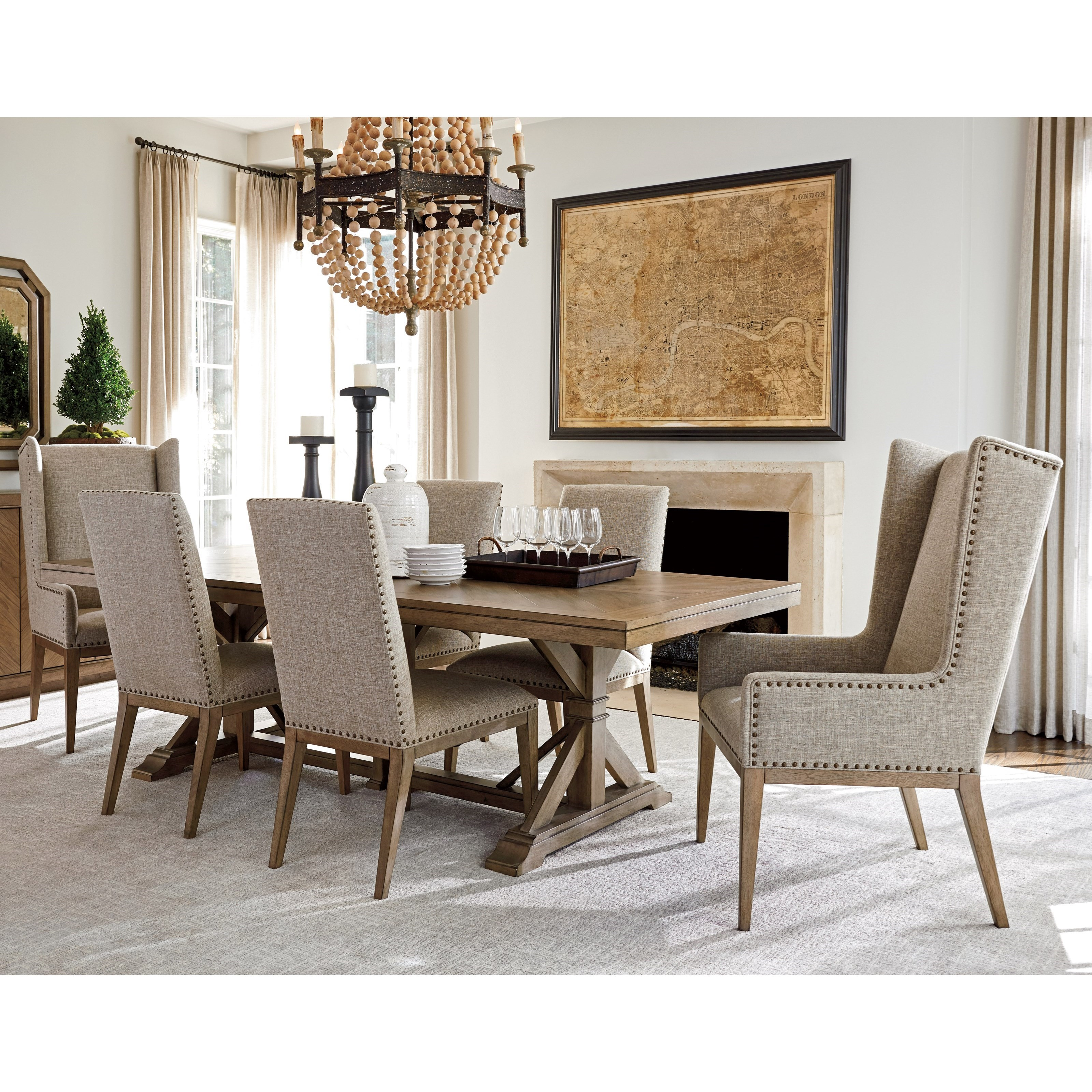 Tommy Bahama Home Cypress Point Seven Piece Dining Set