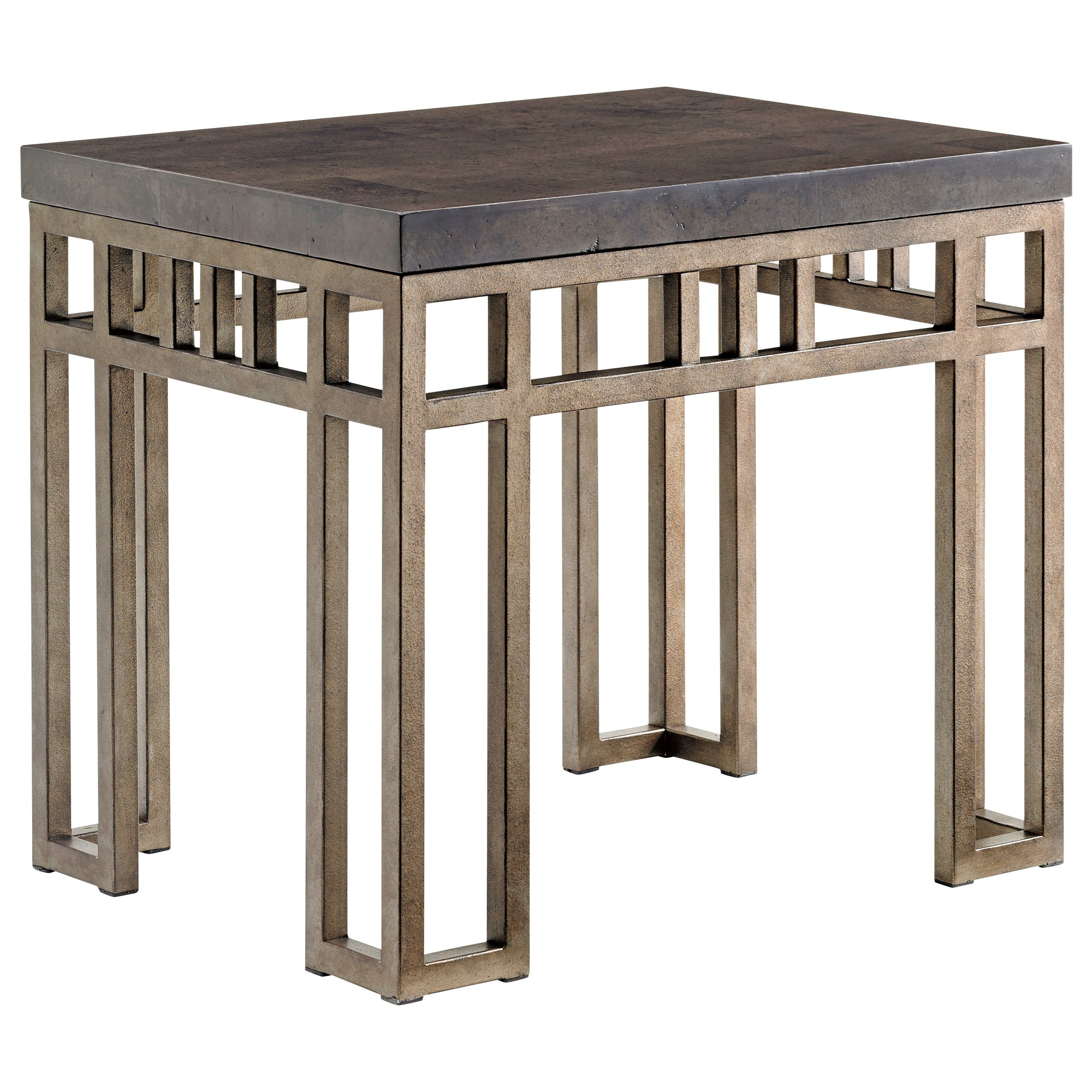 Cypress Point Montera Travertine End Table by Tommy Bahama Home at Baer's Furniture
