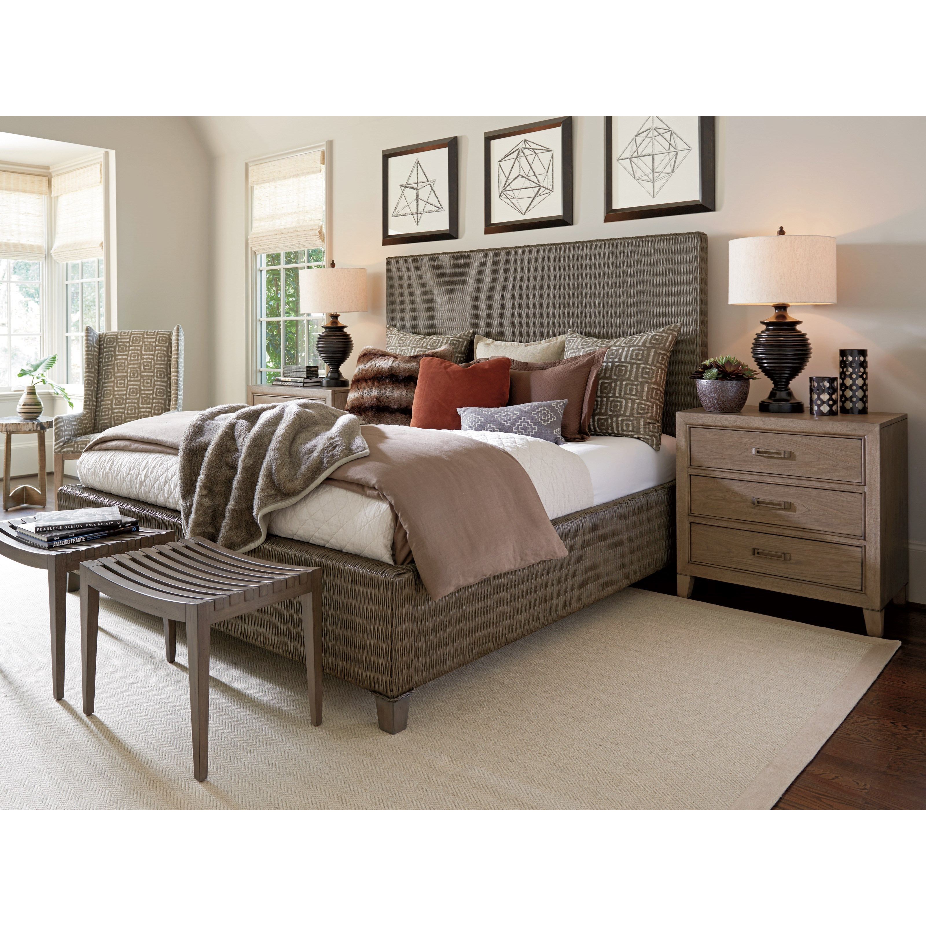 Cypress Point Q Bedroom Group by Tommy Bahama Home at Baer's Furniture