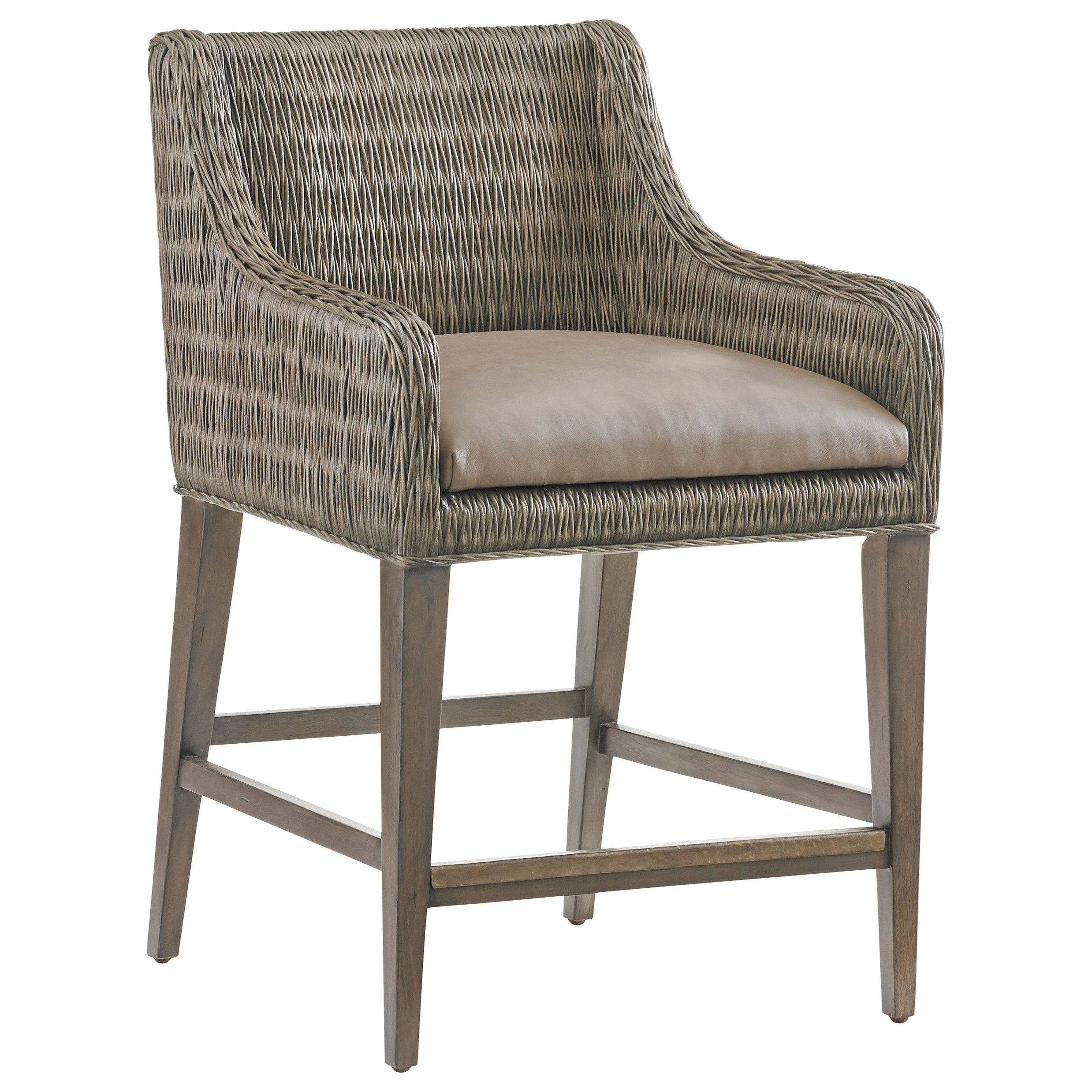 Cypress Point Turner Woven Counter Stool by Tommy Bahama Home at Baer's Furniture