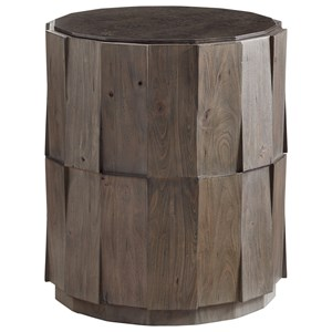Tommy Bahama Home Cypress Point Everett Round Travertine End Table