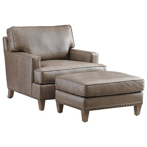 Tommy Bahama Home Cypress Point Hughes Chair and Ottoman Set