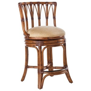 Tommy Bahama Home Island Estate Quickship South Beach Swivel Bar Stool