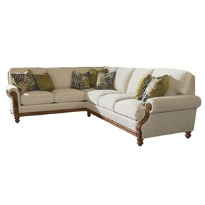 Tommy Bahama Home Island Estate West Shore Sectional Sofa LAF Corner