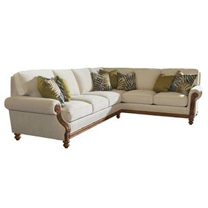 Tommy Bahama Home Island Estate West Shore Sectional Sofa RAF Corner
