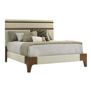 Tommy Bahama Home Island Fusion Mandarin Upholstered Panel Bed King