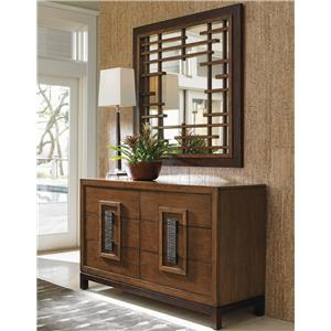 Tommy Bahama Home Island Fusion Tahara Dresser and Mirror Set