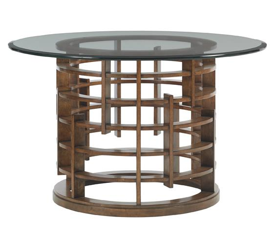"Meridien Dining Table with 54"" Glass Top"
