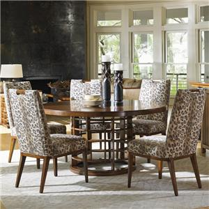Tommy Bahama Home Island Fusion Meridien Dining Table and Side Chair Set
