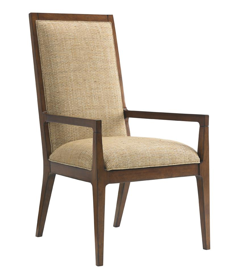 Island Fusion Natori Customizable Slat Back Arm Chair by Tommy Bahama Home at Baer's Furniture