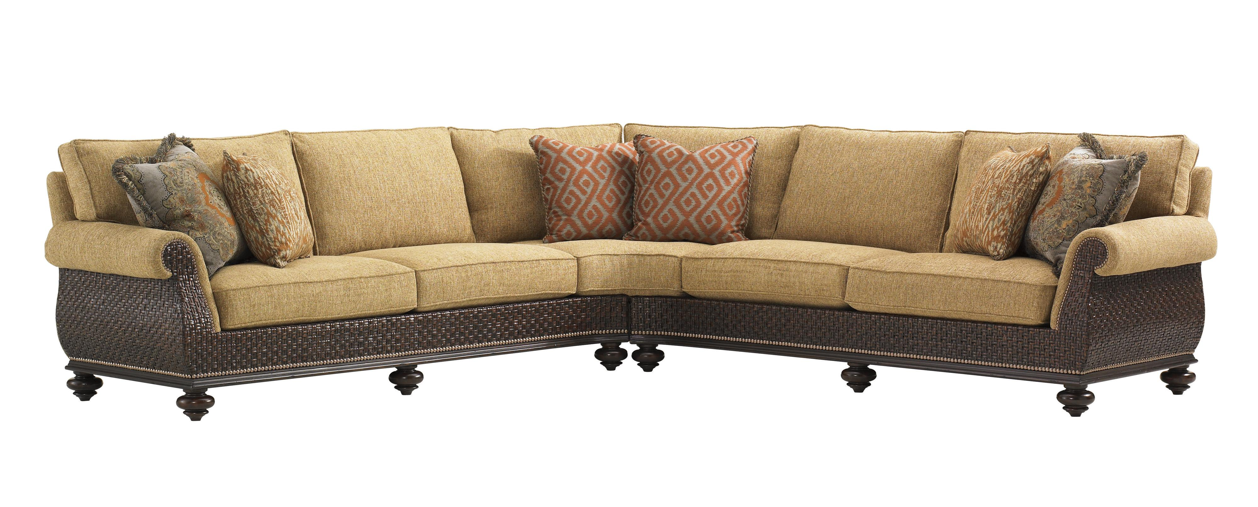 Tommy Bahama Home Island Traditions Westbury Sectional Sofa   Item Number:  1768 53LCR+