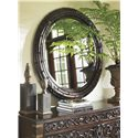 Tommy Bahama Home Island Traditions Newbury Carved Wood Round Mirror with Leather Strapping