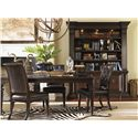 Tommy Bahama Home Island Traditions Traditional Hyde Park Bookcase with Adjustable Storage Shelves and Touch Lighting