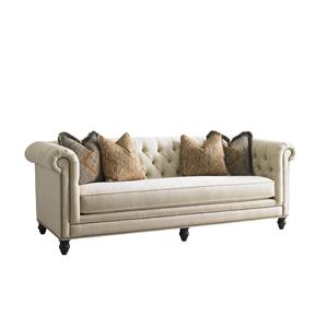 Tommy Bahama Home Tommy Bahama Upholstery Manchester Chesterfield-Style Sofa with Button Tufting