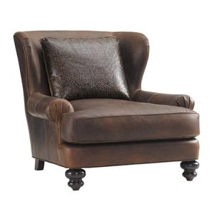 Tommy Bahama Home Island Traditions Kent Leather Chair (married cover)