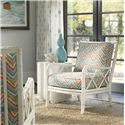 Tommy Bahama Home Ivory Key Heydon Chair with Bamboo Style Frame - Show with Spar Point Chairside Table