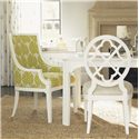 Tommy Bahama Home Ivory Key Aqua Bay Chair with Slope Arms - Shown with Mill Creek Side Chair and Castel Harbour Dining Table