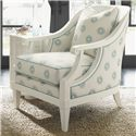 Tommy Bahama Home Ivory Key Shoal Bay Chair with Scroll Arms & Rounded Back