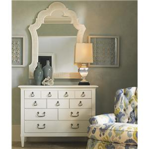 Tommy Bahama Home Ivory Key Elbow Beach Dresser & Sandys Mirror