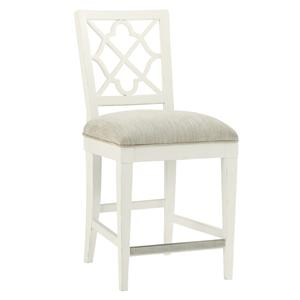 Tommy Bahama Home Ivory Key <b> Customizable </b> Newstead Counter Stool