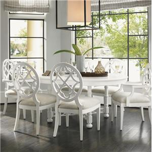 Tommy Bahama Home Ivory Key 7 Piece Table and Chair Set
