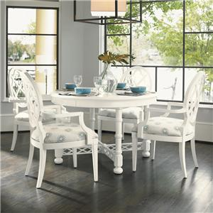 Tommy Bahama Home Ivory Key 5 Piece Table and Chair Set