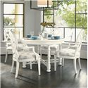 Tommy Bahama Home Ivory Key 5 Piece Table and Chair Set - Item Number: 543-875C+4x881