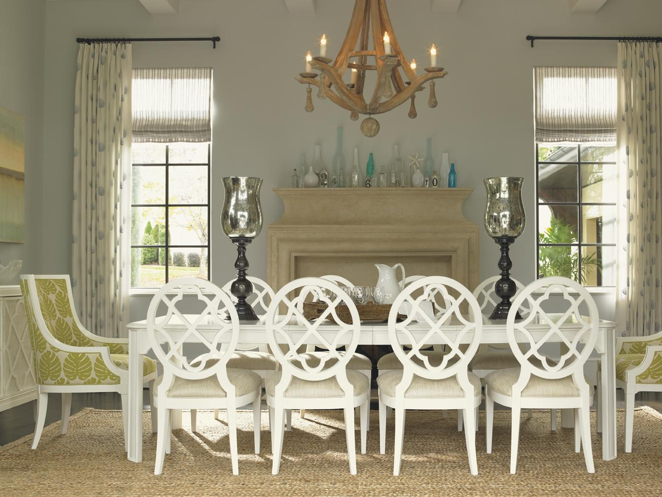 Ivory Key 11 Piece Table and Chair Set by Tommy Bahama Home at Baer's Furniture