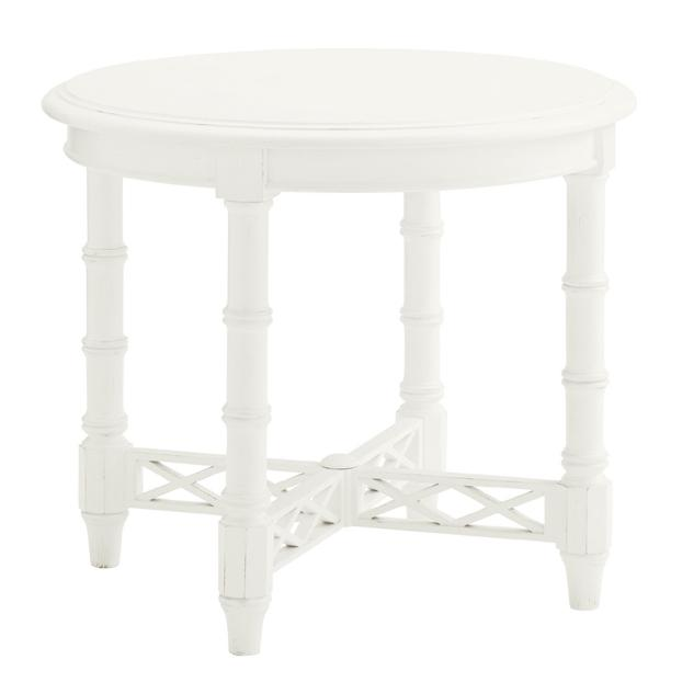 Ivory Key Edgehill Round Lamp Table by Tommy Bahama Home at Baer's Furniture