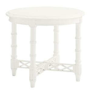 Tommy Bahama Home Ivory Key Edgehill Round Lamp Table