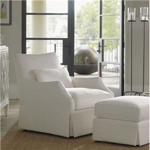 Tommy Bahama Home Ivory Key Crystal Cave Chair & Ottoman