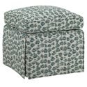 Tommy Bahama Home Ivory Key Square Half Moon Caye Ottoman with Skirt Base