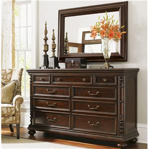 Tommy Bahama Home Kilimanjaro Pennington Dresser and Landsdowne Mirror