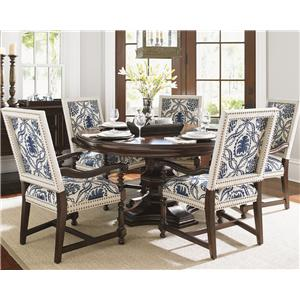 Tommy Bahama Home Kilimanjaro Six Pc Maracaibo Table and Cape Verde Ch Set
