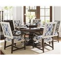 Tommy Bahama Home Kilimanjaro Six Pc Maracaibo Table and Cape Verde Ch Set - Item Number: 552-875C+5X552-881