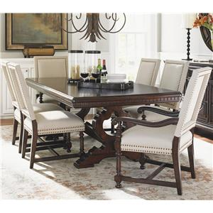 Tommy Bahama Home Kilimanjaro 7 Pc Expedition Table and Cape Verde Ch Set