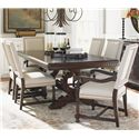 Tommy Bahama Home Kilimanjaro 7 Pc Expedition Table and Cape Verde Ch Set - Item Number: 552-877C+4X552-880-01+2X552-881-01