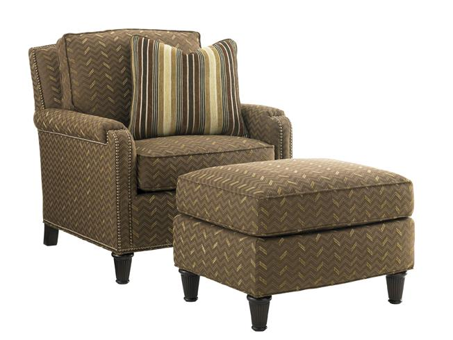 Tommy Bahama Upholstery Bishop Chair and Ottoman Set by Tommy Bahama Home at Baer's Furniture