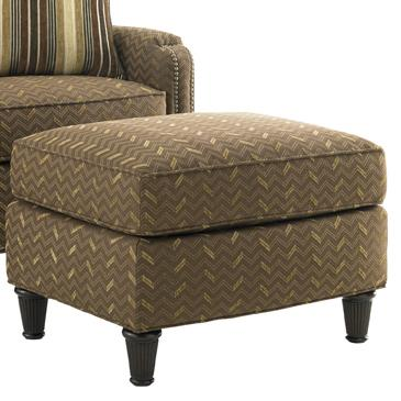 Tommy Bahama Upholstery Bishop Ottoman by Tommy Bahama Home at Baer's Furniture