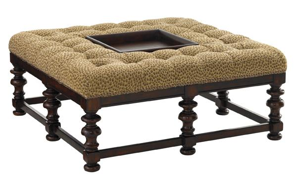 Tommy Bahama Upholstery Heather Cocktail Ottoman by Tommy Bahama Home at Baer's Furniture