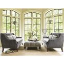 Tommy Bahama Home Kilimanjaro Sloane Tufted Settee with Nailhead Trim