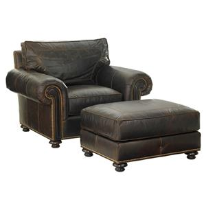 Tommy Bahama Home Kilimanjaro Riversdale Chair and Ottoman