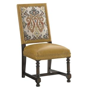 Tommy Bahama Home Kilimanjaro Jacqueline Leather Hostess Dining Chair