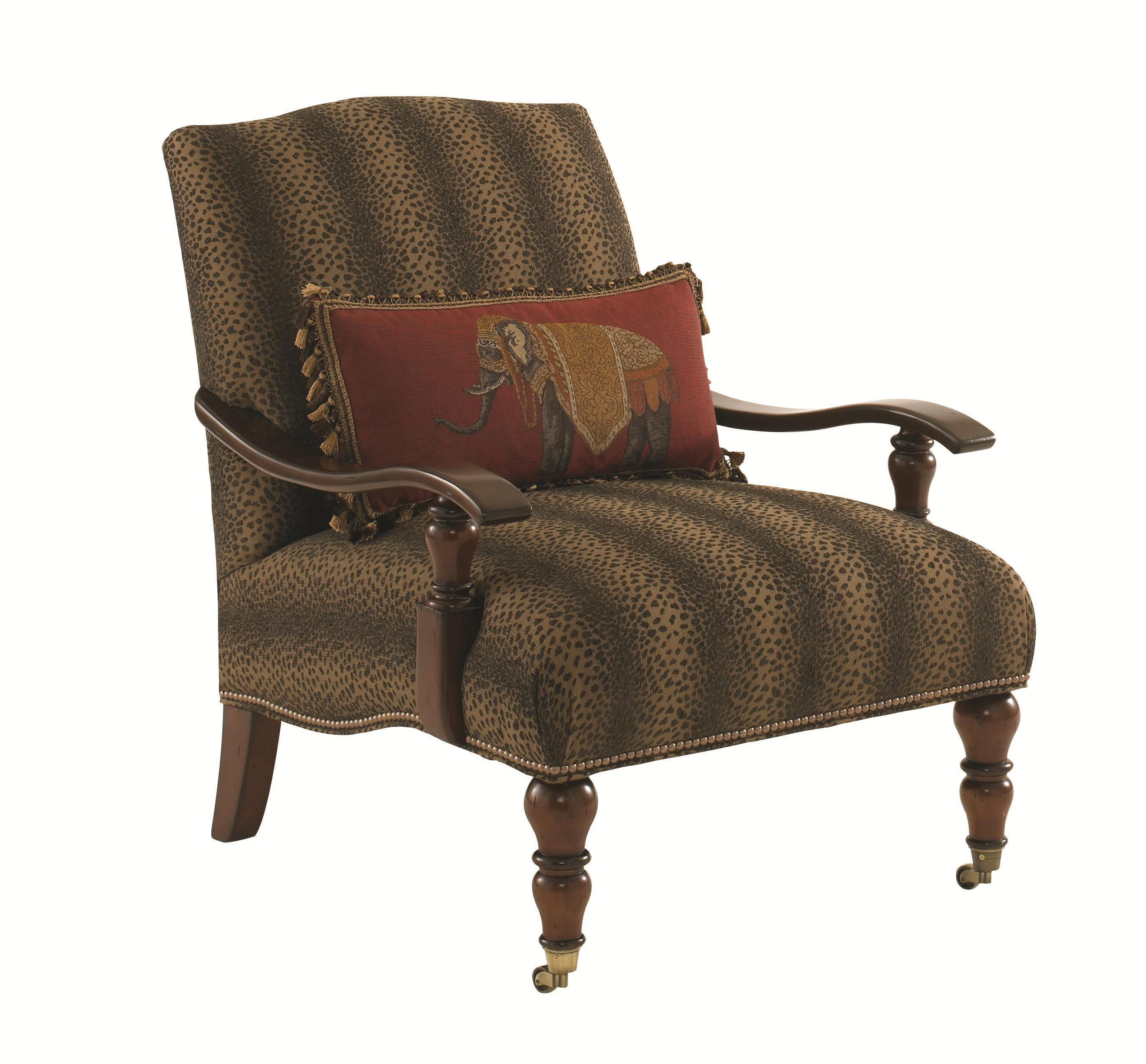 Tommy Bahama Home Landara San Carlos Chair With Exposed Wood Arms And Casters Jacksonville