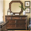 Tommy Bahama Home Landara Sailfish Point Dresser and Cape Coral Mirror - Item Number: 545-234+545-204