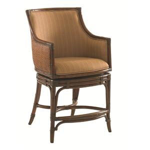 Tommy Bahama Home Landara Oceana <b>Quickship</b> Swivel Counter Stool