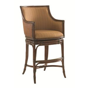 Tommy Bahama Home Landara Oceana <b>Quickship</b> Swivel Bar Stool