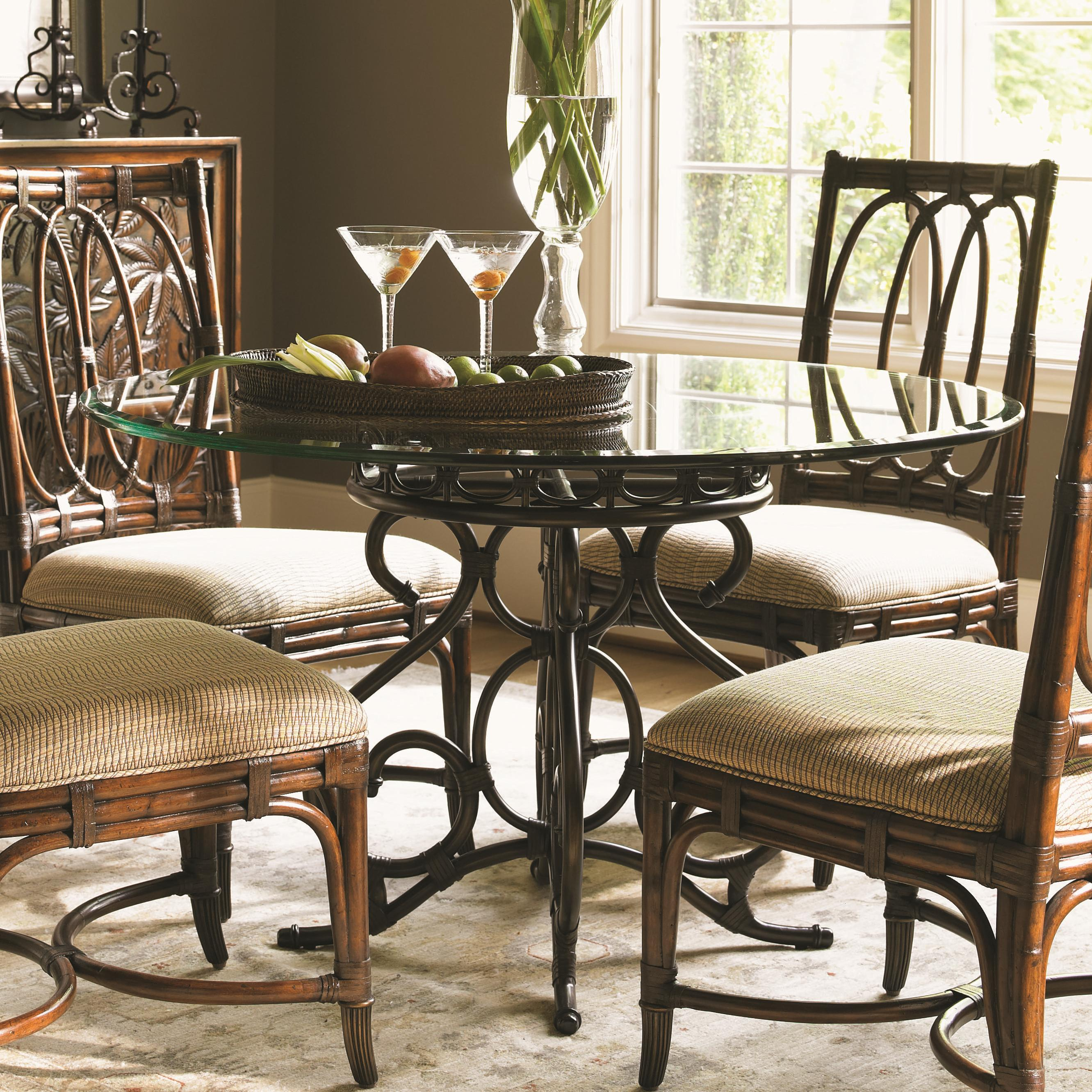 Tommy Bahama Home Landara Capistrano Dining Table - Item Number: 545-870+001-048GT